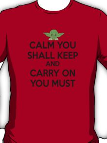 YODA - STAR WARS - KEEP CALM T-Shirt