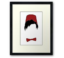 Eleventh doctor fez and bowtie Framed Print