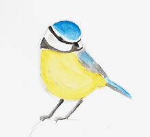 Watercolor Bird by mllemaple