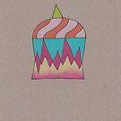 Flaming Unicorn Cupcake by Kelly Cree