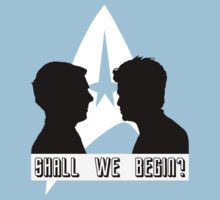 Shall we begin? Kirk/John Harrison Edition Kids Tee