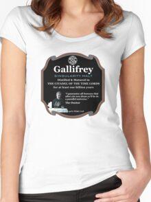 Doctor Who - Gallifrey Singularity Malt Women's Fitted Scoop T-Shirt