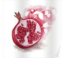 Raspberry Pomegranate Herbal Tea Poster