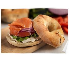 Bialy with Cream Cheese and Lox Poster