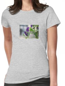 Solanum Rantonnetii With Garden Background Womens Fitted T-Shirt