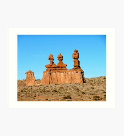 Desert Sculptures Art Print