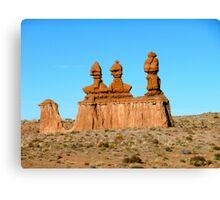 Desert Sculptures Canvas Print