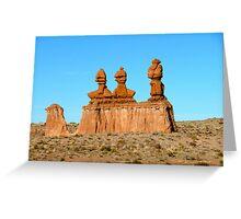 Desert Sculptures Greeting Card