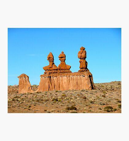 Desert Sculptures Photographic Print