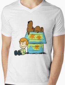Scooby Doo Peanuts Mens V-Neck T-Shirt