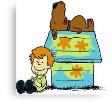 Scooby Doo Peanuts Canvas Print
