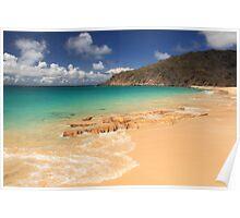Happy Bay Beach, St. Martin Poster