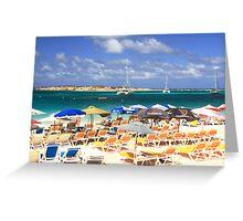 Orient Beach, St. Martin Greeting Card