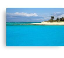 Turquoise Caribbean Canvas Print