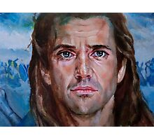 Mel Gibson in Brave heart Photographic Print