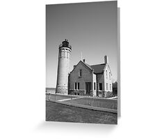 Lighthouse - Mackinac Point, Michigan Greeting Card