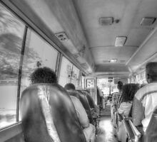 From inside the Bus # 11 in Nassau, The Bahamas by Jeremy Lavender Photography