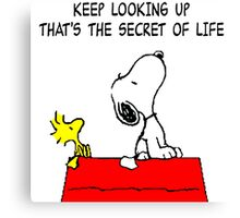 Snoopy Secret of Life Canvas Print
