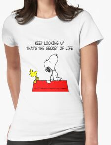 Snoopy Secret of Life Womens Fitted T-Shirt