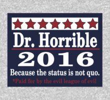 vote Dr. Horrible 2016 Kids Clothes