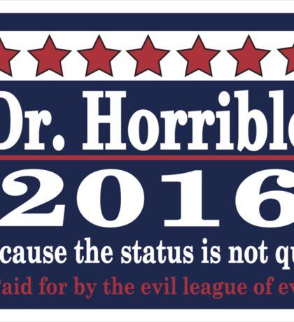 vote Dr. Horrible 2016 Sticker