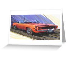 1969 Camaro SS L34 Greeting Card