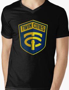 Twin Cities // America League // PCGD Mens V-Neck T-Shirt