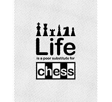 Chess v Life - Black Graphic Photographic Print