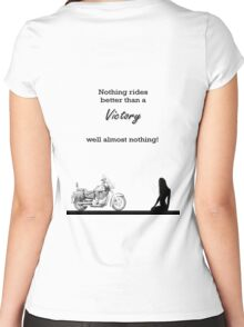 Victory motorcycle tee shirt - nothing rides like a victory Women's Fitted Scoop T-Shirt