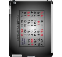 Vowels are Odd iPad Case/Skin
