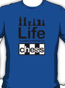 Chess v Life - Carbon Fibre Finish T-Shirt