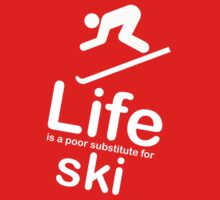 Ski v Life - White Graphic Kids Clothes