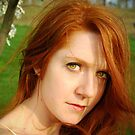Windy Spring Portrait by redhairedgirl