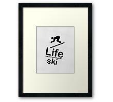 Ski v Life - Marble Framed Print