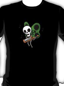 Adventure Time Keytar Skull Butterfly T-Shirt