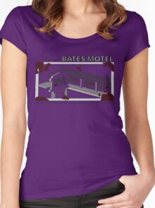 Visit Bates Motel Women's Fitted Scoop T-Shirt