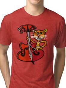 Bassy Cat Tri-blend T-Shirt
