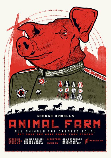 animal farm how george uses George orwell's 1946 novel animal farm uses the animals of manor farm as a metaphor for stalinism in order to demonstrate the corruption and dangers of a communist leadership.