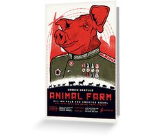Animal Farm Movie Poster Greeting Card