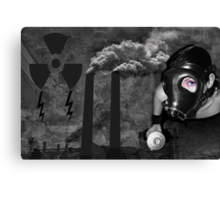 ╭∩╮( º.º )╭∩╮HELP!! STOP POLLUTING OUR PLANET OPEN YOUR EYES AND HEART╭∩╮( º.º )╭∩╮ Canvas Print