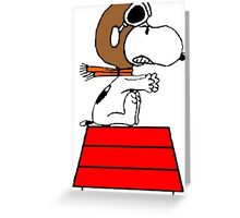 Red Baron Snoopy Greeting Card