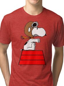 Red Baron Snoopy Tri-blend T-Shirt