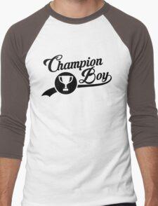 CHAMPION BOY TEE (BLACK) Men's Baseball ¾ T-Shirt