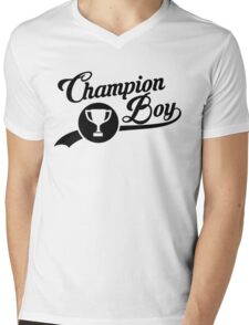 CHAMPION BOY TEE (BLACK) Mens V-Neck T-Shirt