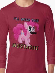 Pinkie Pie Mustache (My Little Pony: Friendship is Magic) Long Sleeve T-Shirt