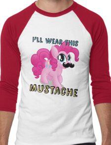 Pinkie Pie Mustache (My Little Pony: Friendship is Magic) Men's Baseball ¾ T-Shirt