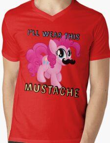 Pinkie Pie Mustache (My Little Pony: Friendship is Magic) Mens V-Neck T-Shirt