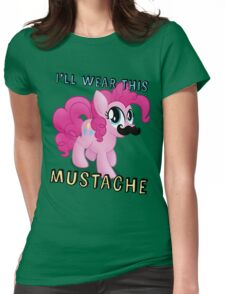 Pinkie Pie Mustache (My Little Pony: Friendship is Magic) Womens Fitted T-Shirt