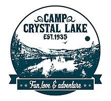 Crystal lake holidays Photographic Print