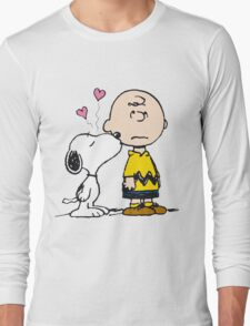 Snoopy and Charlie Long Sleeve T-Shirt